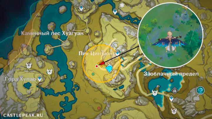 Адепты на карте в Genshin Impact