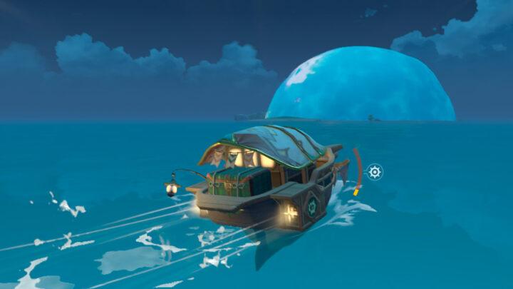 Большой пузырь, накрывающий остров в Genshin Impact
