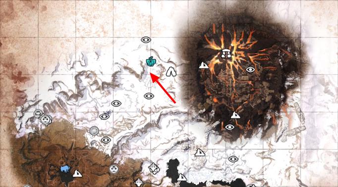 Где искать чёрный лёд на карте в Conan Exiles