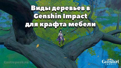 Древесина в Genshin Impact для крафта мебели