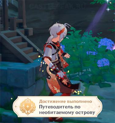"""Достижение """"Путеводитель по необитаемому острову"""" в Genshin Impact"""