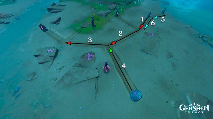 Решение головоломки с передвижными камнями и громовой птицей - 7