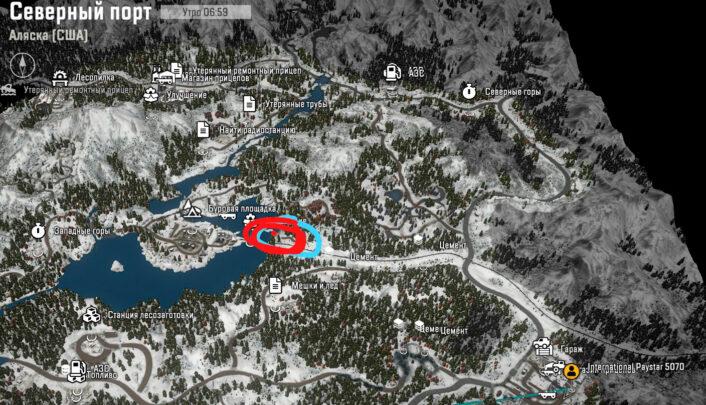 Хаммер на карте SnowRunner