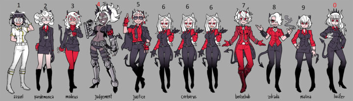 Все персонажи с именами Helltaker