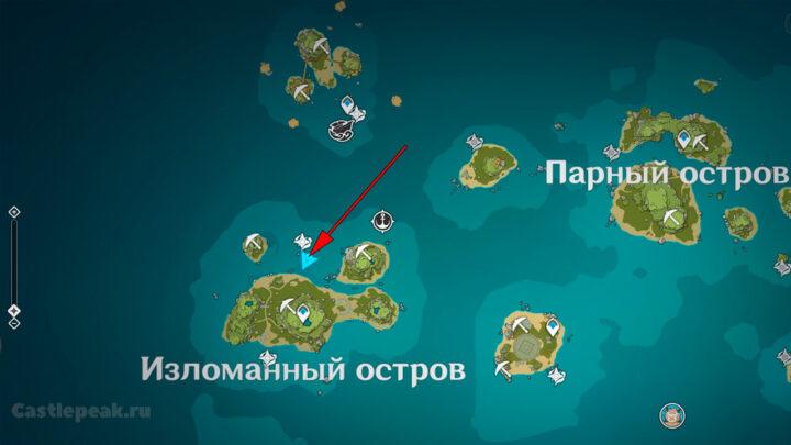 Головоломка с камнями на карте в Genshin Impact