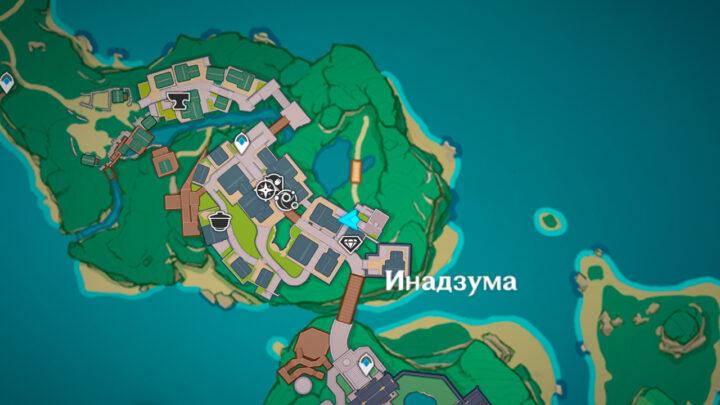 Место появления Миядзимы с квестом Чужестранец, ответь, пожалуйста