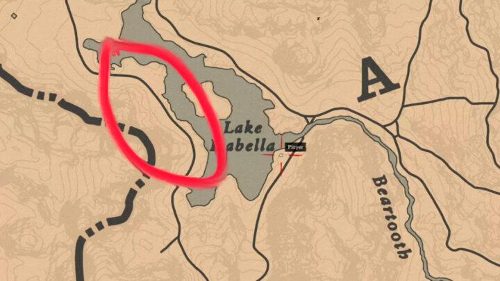 Карта местности где искать арабского скакуна в RDR 2