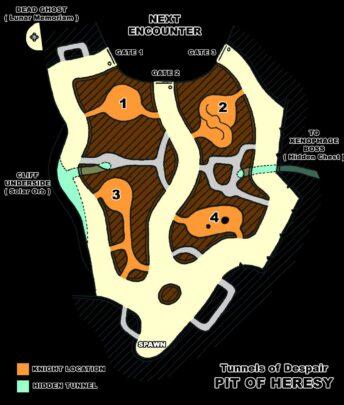 Карта Туннелей в Яме Ереси