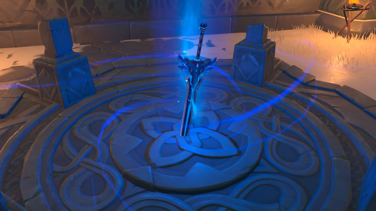 """Получение меча """"Заснеженное звёздное серебро"""" в Genshin Impact"""