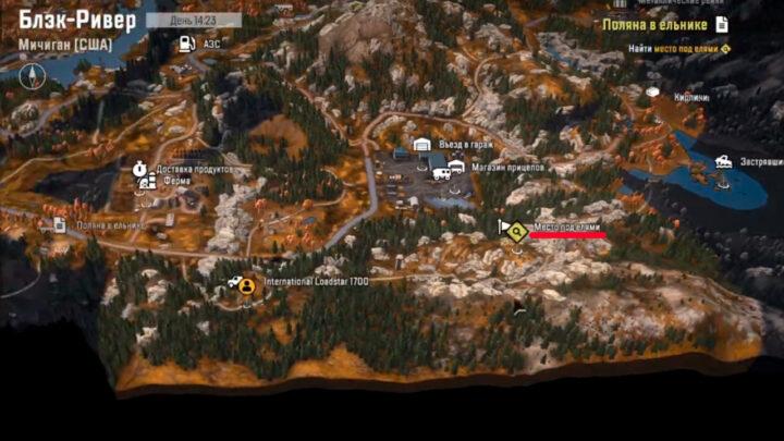 Место под елями на карте