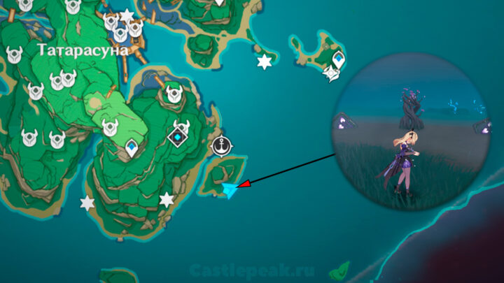 Головоломка с перелётами и кубами на карте - Genshin Impact