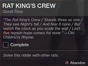 Квест Отряд Крысиного Короля