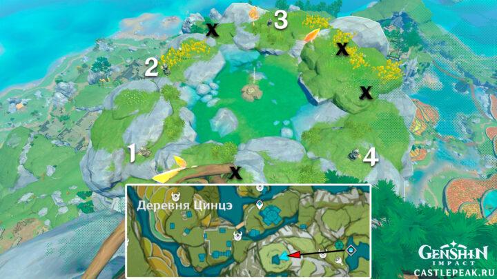 Решение головоломки с поиском фрагмента в Genshin Impact