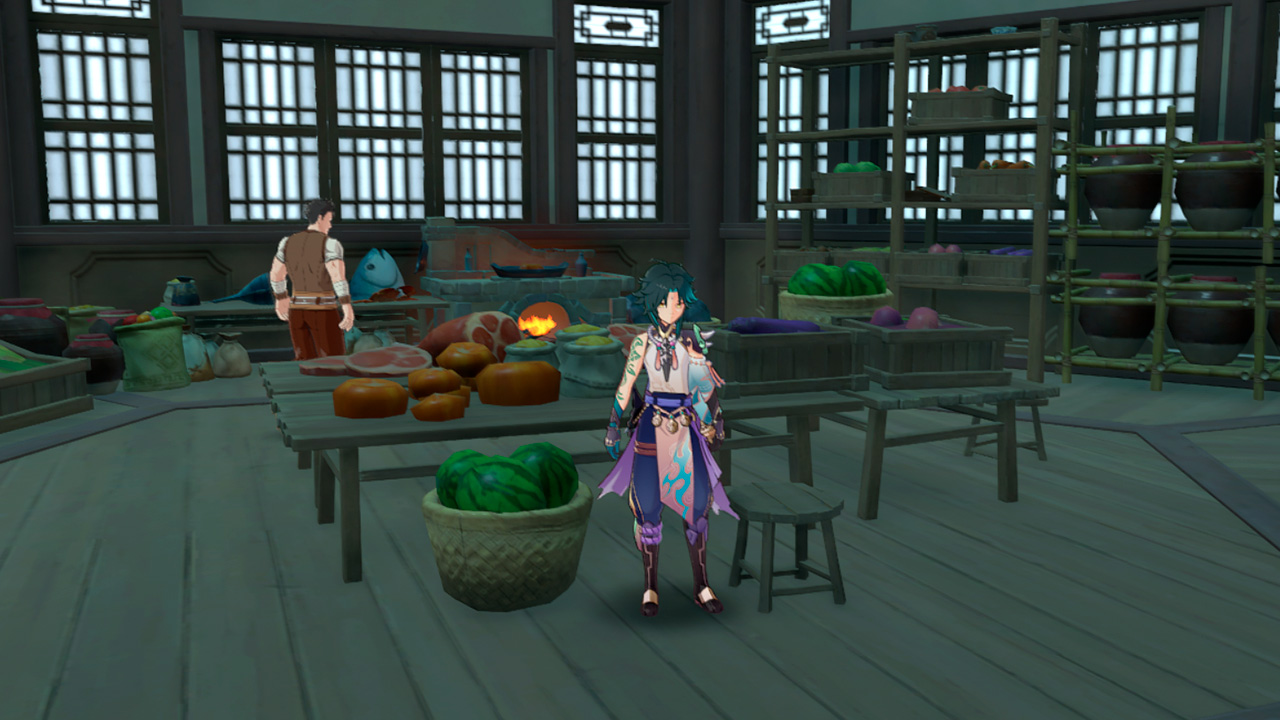 "Кухня и повар постоялого двора ""Ваншу"" в Genshin Impact"