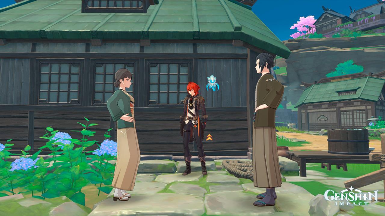"""Родители Ацуко в квесте """"Дом, что лежит за океаном"""" - Genshin Impact"""