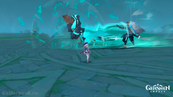 Магу кэнки атакует рывком маски