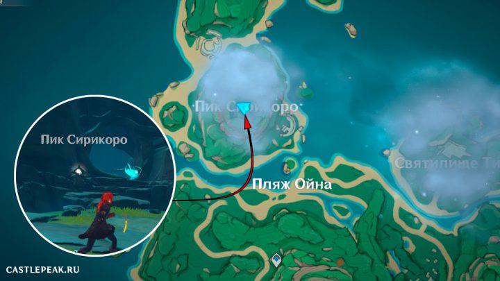 Северное гнездовье на острове Цуруми - Genshin Impact