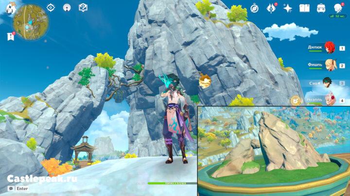 Искомая гора с сокровищем в Genshin Impact