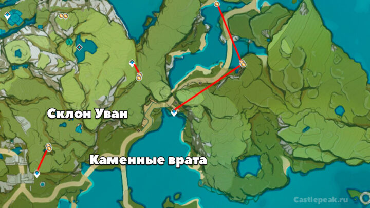 Склон Уван: где находится Кор ляпис на карте - Genshin Impact