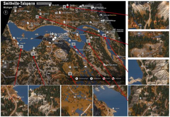 Карта Смитфилдской дамбы