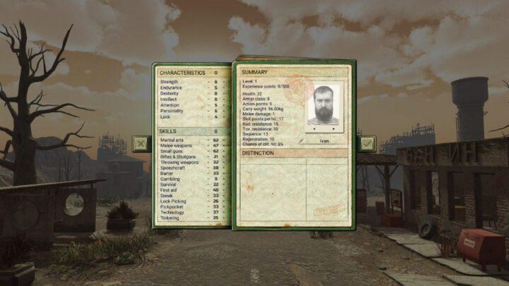 Создание персонажа в Atom RPG