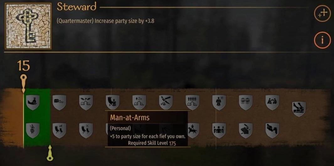 Навык Man-at-Arms, увеличивающий отряд