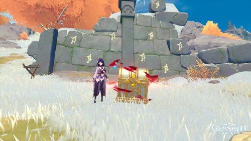 Загадка с 8 нажимными плитами на Драконьем хребте в Genshin Impact