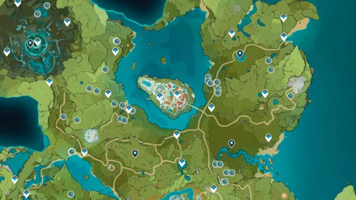 Светяшка на карте Genshin Impact