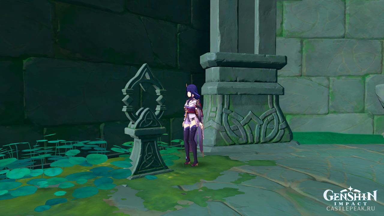 Головоломка святилища Тирай с каменными плитами - Genshin Impact