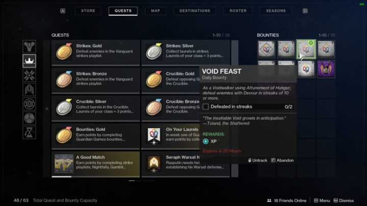 Контракт Пир Пустоты в Destiny 2