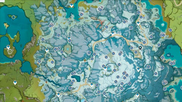 Звёздное серебро на карте Genshin Impact